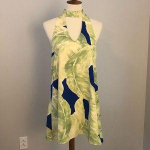 Karlie palm leaf dress